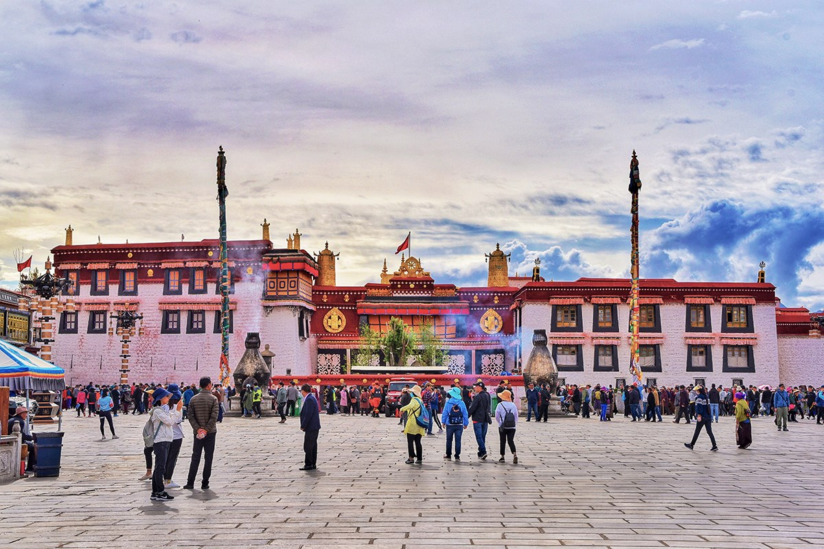 Believers at Jokhang Temple